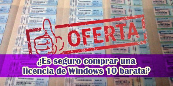 Comprar una licencia de Windows 10 barata