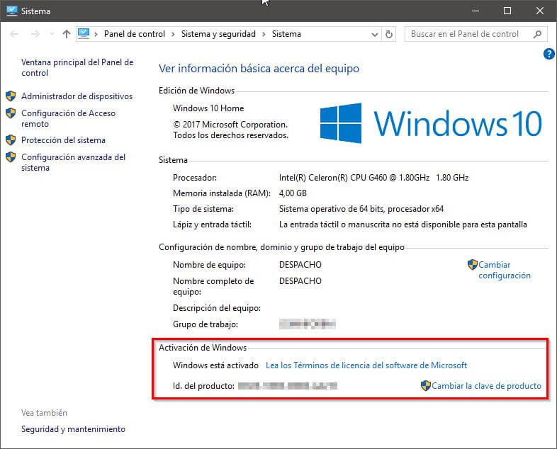 Windows está activado