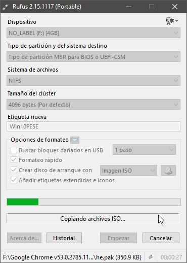 Crear USB de arranque de Windows 10