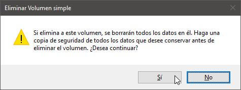 Eliminar partición Windows