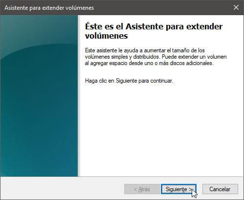 Extender partición Windows